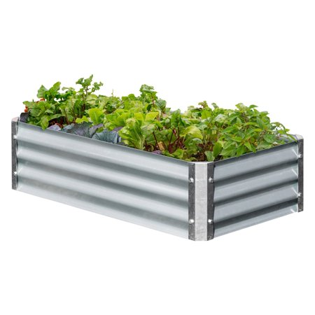 EarthMark Galvanized Low Rectangular Raised Garden Bed ()