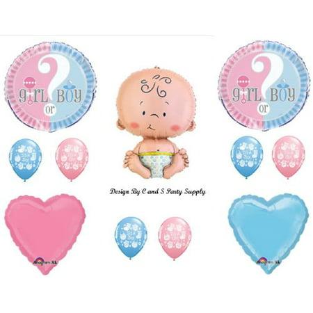 GENDER REVEAL BOY GIRL BABY SHOWER Balloons Decorations Supplies - Gender Reveal Baby Shower Supplies