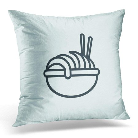USART Culinary Pasta Line Clean Spaghetti Concept Drawing in Modern Style for Your Site Mobile Ui Design Pillows case 18x18 Inches Home Decor Sofa Cushion