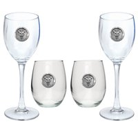 Marshall University Goblet Set Stemmed and Stemless Wine Set