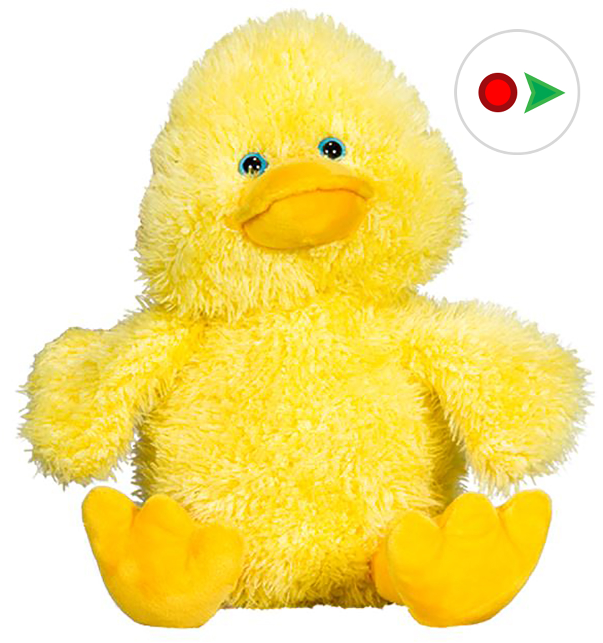 Record Your Own Plush 8 inch - Puddles the Duck - Ready 2 Love in a Few Easy Steps