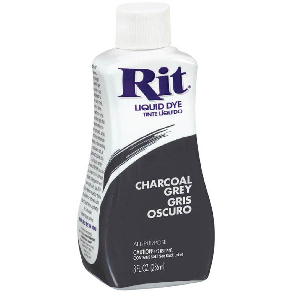 Rit Dye Liquid 8oz Charcoal Grey