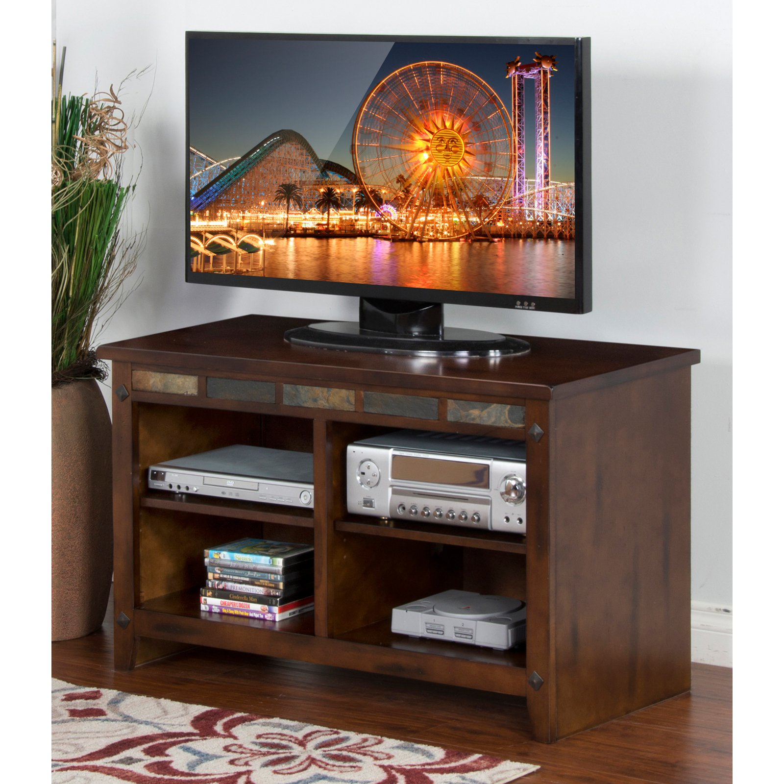 Sunny Designs Santa Fe Dark Chocolate TV Console