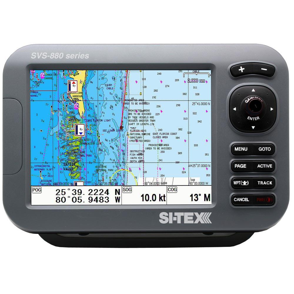 "SI-TEX SITEX 8"" CHARTPLOTTER SYSTEM W/ EXTERNAL GPS & NAV..."