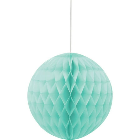 Tissue Paper Honeycomb Ball, 8 in, Mint Green, 1ct