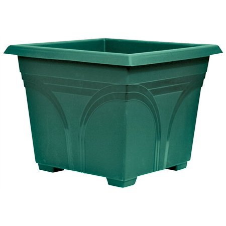 9613183,PLANTERS,PLASTIC ,MEDALLION DECK BOX - SQUARE FERN,,Size In=15x15x24