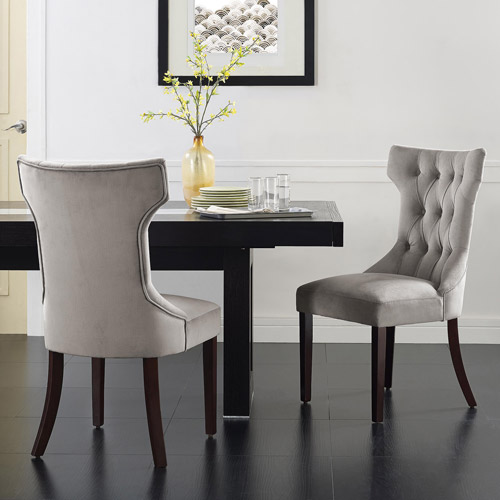 Dorel Living Clairborne Tufted Upholestered Dining Chair, Set of 2 by Dorel Asia