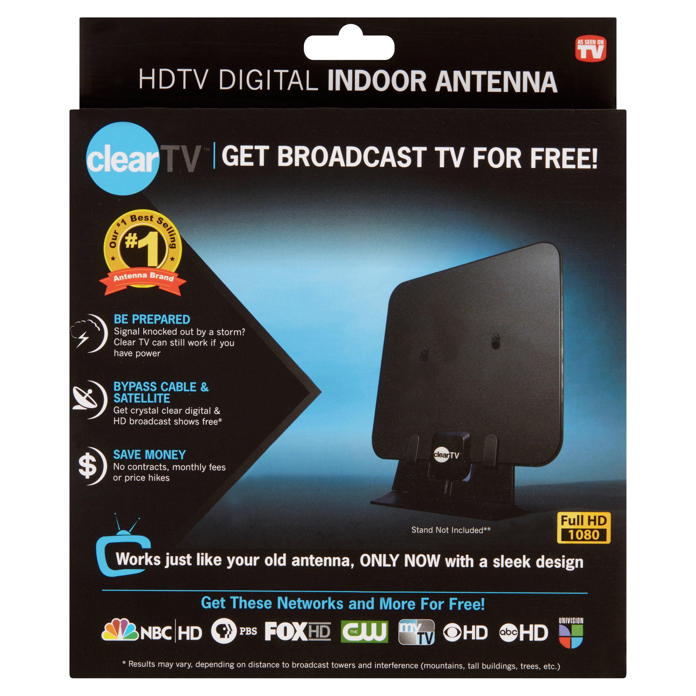 Clear Tv Hdtv Digital Indoor Antenna Broadcast Network Tv In Hd