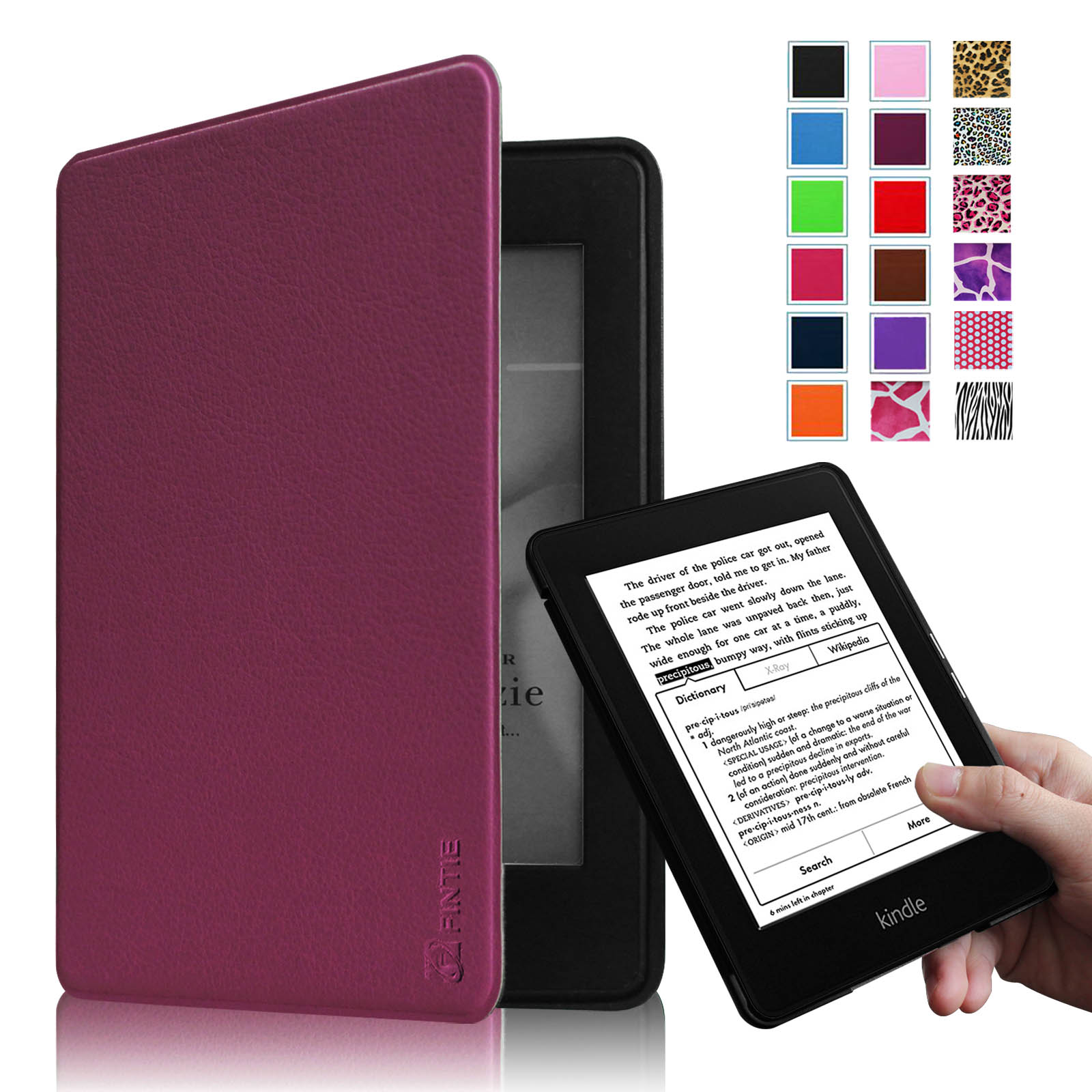 All-New Amazon Kindle Paperwhite Case - Fintie [Blade X1] Premium Protective Smart Shell Leather Cover, Purple