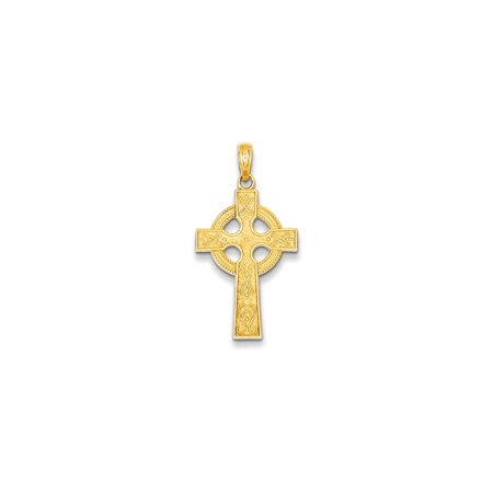 Yellow Gold Celtic Love Knots - 14k Yellow Gold Irish Claddagh Celtic Knot Cross Religious Pendant Charm Necklace Iona Gifts For Women For Her