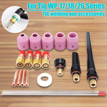 21X TIG Welding Torch Stubby Gas Lens Kit For Tig WP-17/18/26 Series