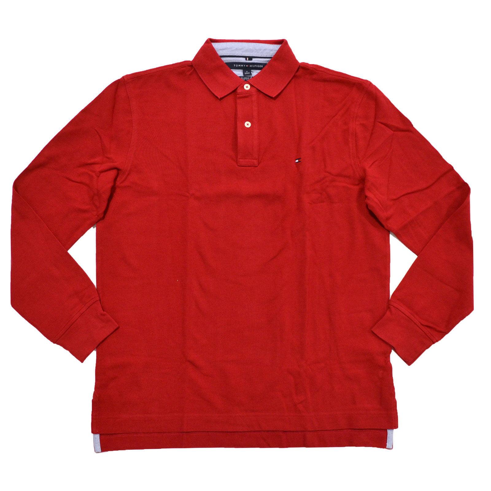 Tommy Hilfiger Mens Long Sleeve Mesh Polo Shirt