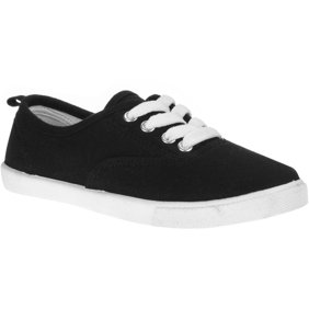 Girls' Lace-Up Canvas Casual Shoe