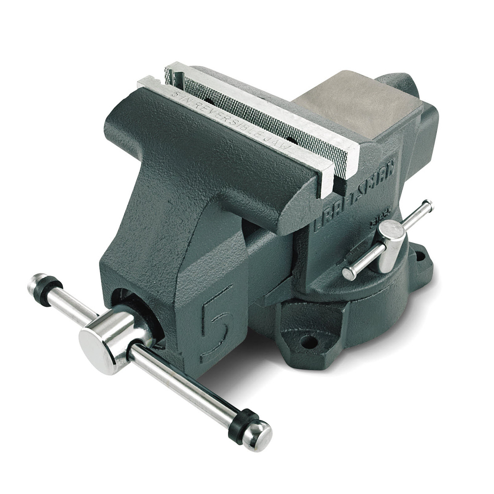 Craftsman Bench Vise 5 in. 180-degree Swivel V-groove Hardy Machined Anvil Top Garage Tool 51855 by