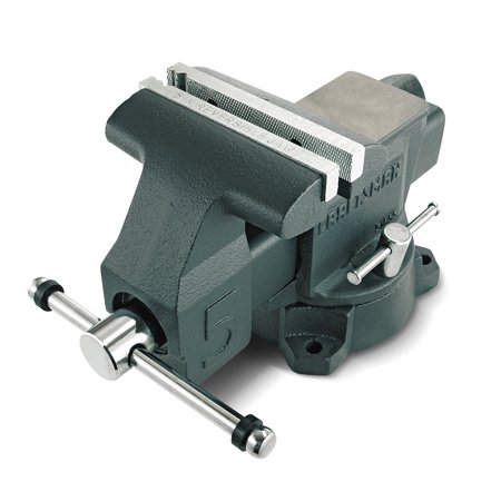 Craftsman Bench Vise 5 in. 180-degree Swivel V-groove Hardy Machined Anvil Top Garage Tool (Craftsman 4 In Drill Press Vise General Purpose)