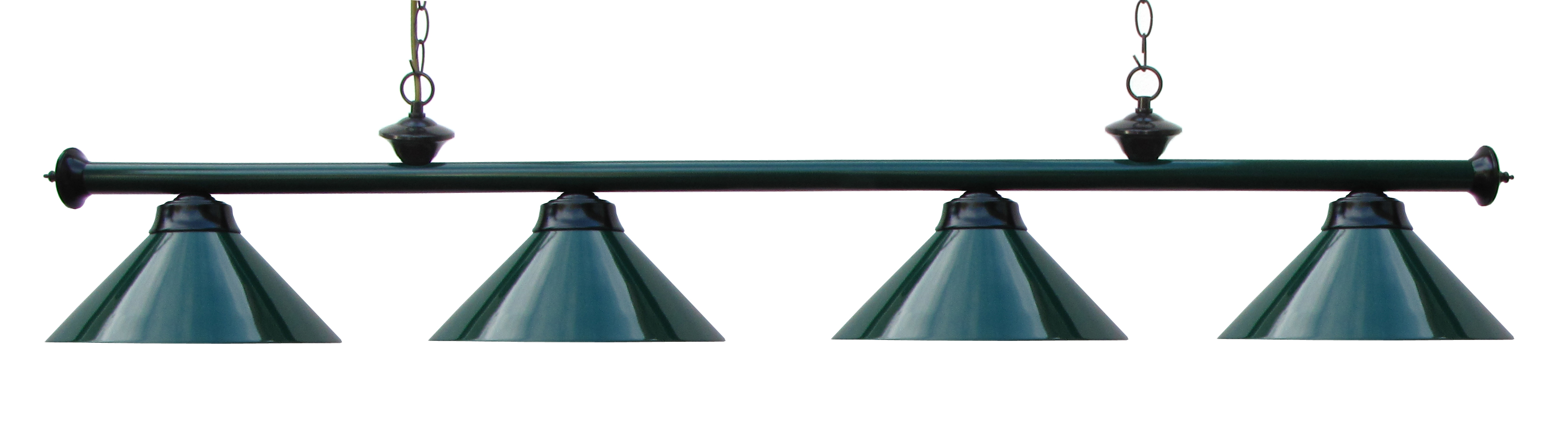 72 Inch Pool Table Light Pool Table Light Green   Black With Metal Shades by