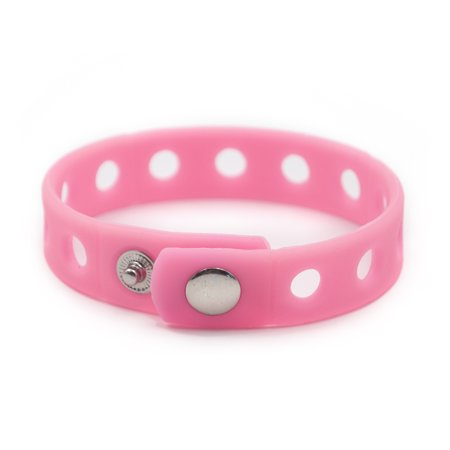 Charms For Bracelets Wholesale (GOGO Adjustable Silicone Wristband Bracelet For Fit Shoe Charms Adult & Kid Wholesale for Party Gift-Adult Hotpink-10)