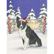 Pipsqueak Productions C935 Holiday Boxed Cards- Border Collie