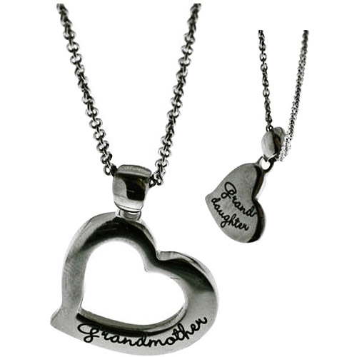 Connections from Hallmark Stainless-Steel Inscribed Grandmother/Granddaughter Breakaway Pendants, 18-20""