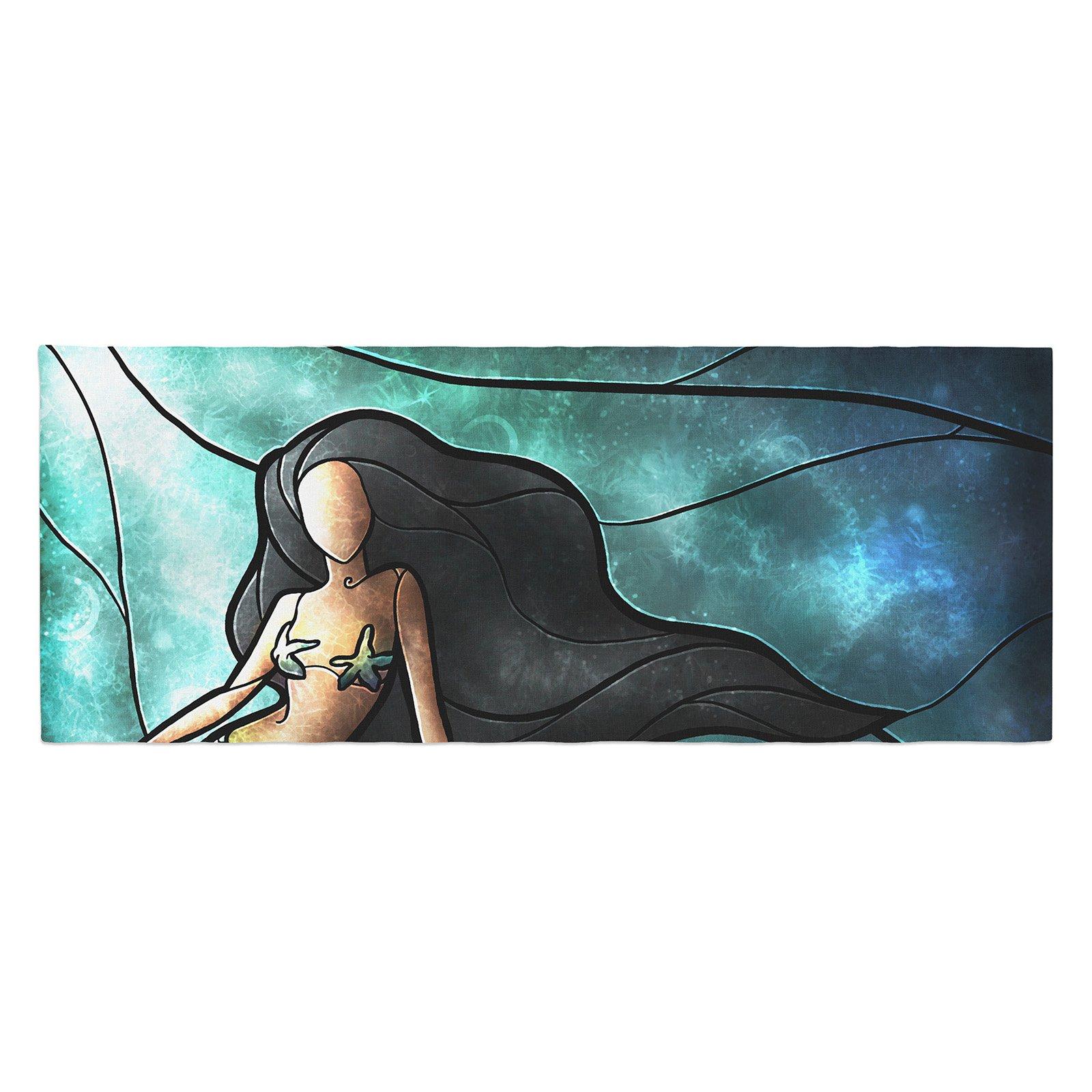 Mandie Manzano Mermaid Bed Runner by Kess InHouse