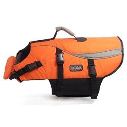 Outward Hound Designer Pet Saver Life Jacket, Orange, For dogs 55-85 pounds By Kyjen