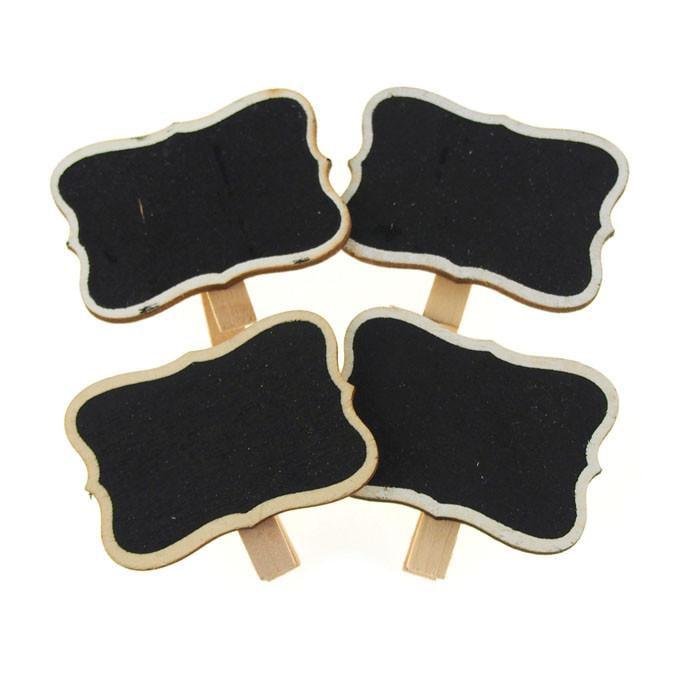 Chalkboard Tag Clothespins, Bracket, 1-3/4-inch, 4-Piece