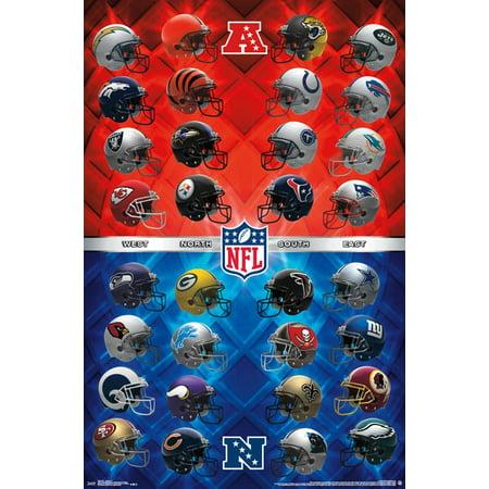 NFL - Helmets Poster Print