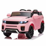 12V Kids Ride On Car, Battery Powered Electric Kids Car, 2.4GHZ Remote Control with LED Lights Child Ride ons for 1 to 4 Years Old Boys and Girls