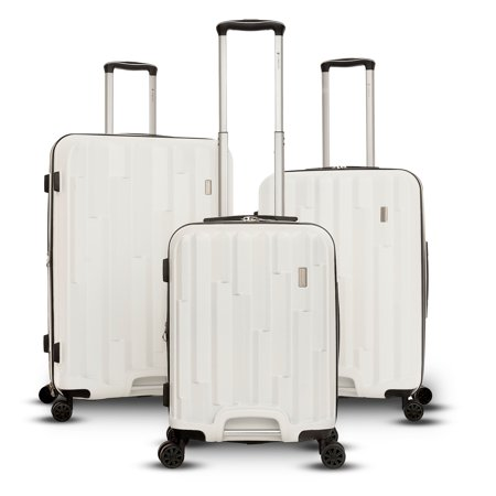 0ba18a0d0a83 Gabbiano Avila Collection 3 Piece Hardside Spinner Luggage Set