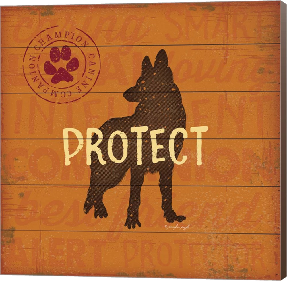Protect Dog by Jennifer Pugh, Canvas Wall Art