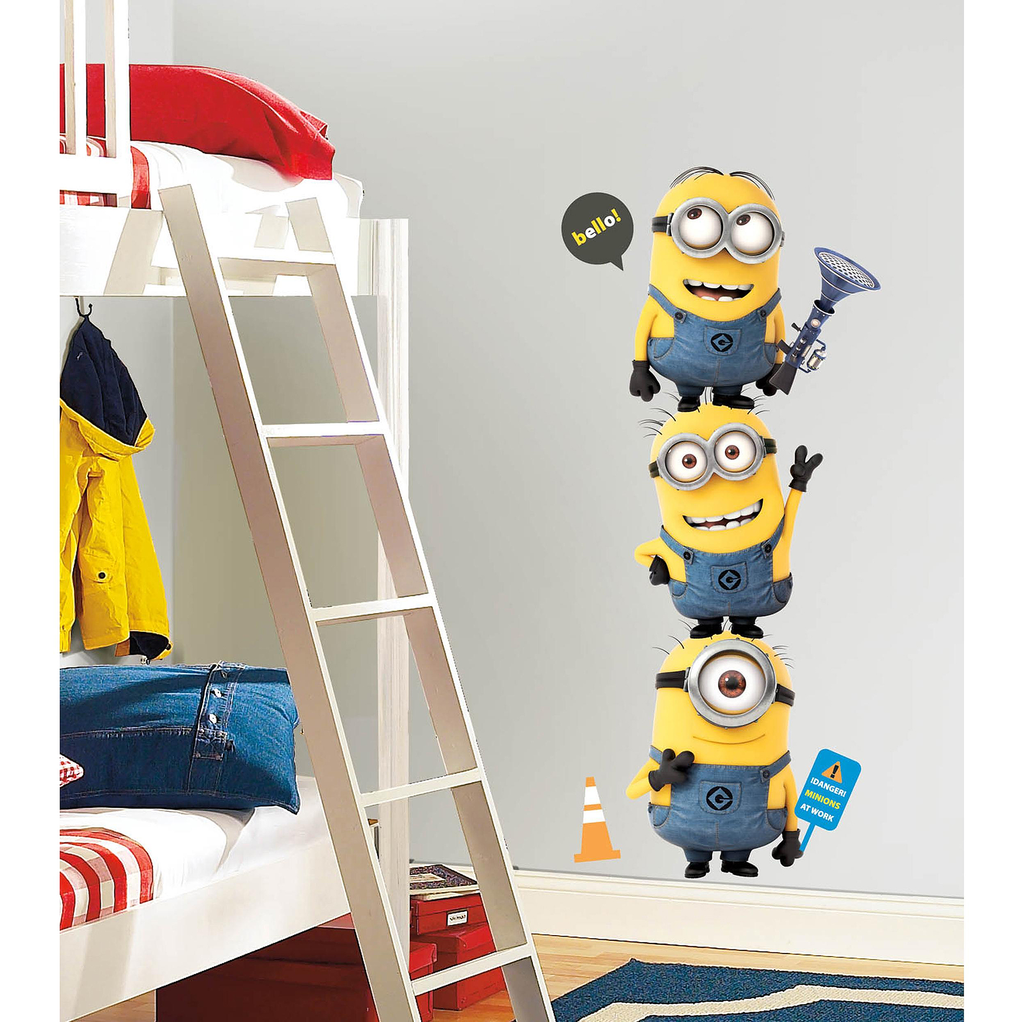 Kids wall decals walmart despicable me 2 minions giant peel and stick giant wall decals amipublicfo Gallery