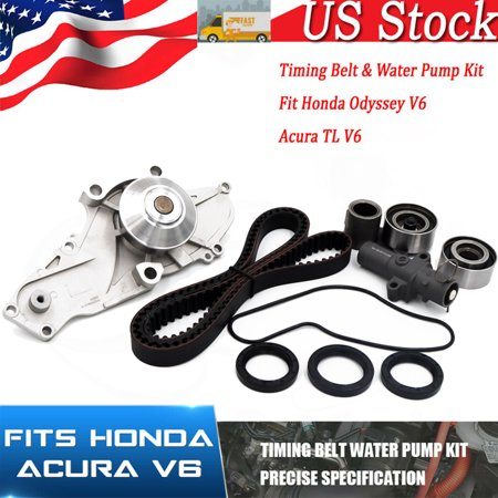 Timing Belt+Water Pump For Acura CL TL MDX Honda Accord Odyssey J30A J32A (2006 Honda Accord 2-4 Timing Belt Or Chain)