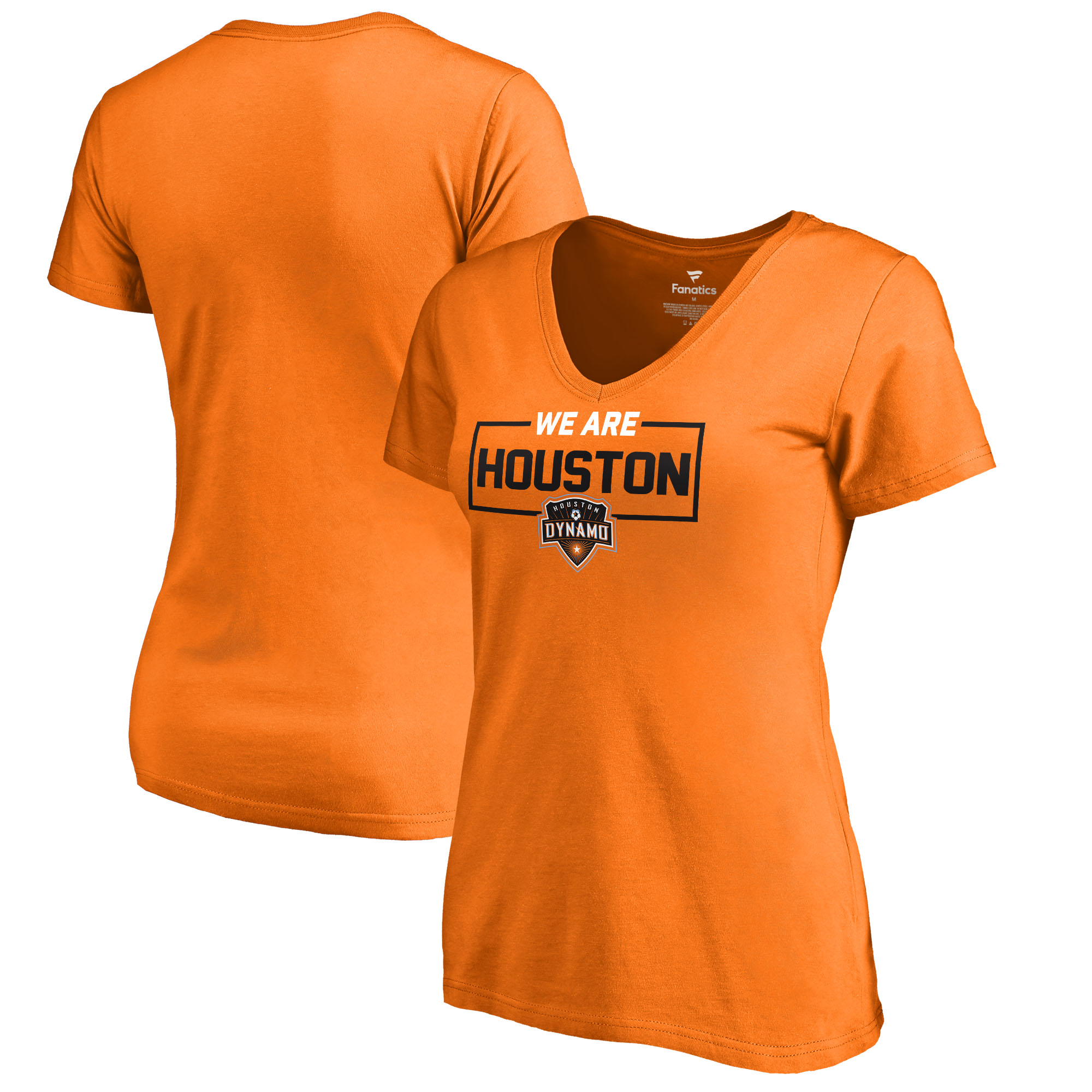 Houston Dynamo Fanatics Branded Women's We Are V-Neck T-Shirt - Orange