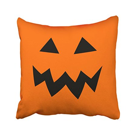 Pumpkin Linen Pillow (WinHome Orange Halloween Pumpkin Head Face Throw Pillow Covers Cushion Cover Case 20x20 Inches Pillowcases Two Side )