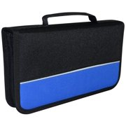 PROTECTIVE MEDIA DOUBLE CD DVD VCD BLUE-RAY NYLON ZIPPER WALLET STORAGE ORGANIZER CASE 104 PACK HOLDER