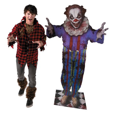 Fun Express - Carnevil Scary Clown Standup for Halloween - Party Decor - Large Decor - Floor Stand Ups - Halloween - 1 Piece