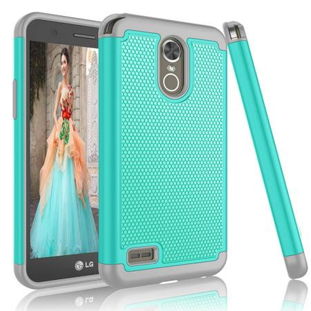 LG Stylus 3 Case,LG Stylus 3 Case For Girls, Tekcoo [Tmajor] Shock  Absorbing Rubber Plastic [Rose] Scratch Resistant Defender Bumper Rugged  Slim Grip