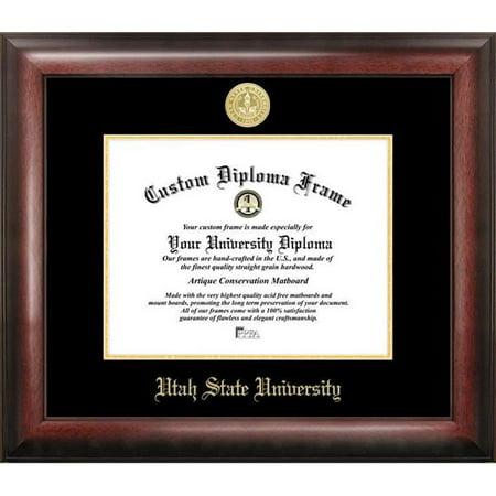 Campus Images UT997GED-1185 8.5 x 11 in. Utah State University Gold Embossed Diploma Satin Mahogany Frame - image 1 of 1