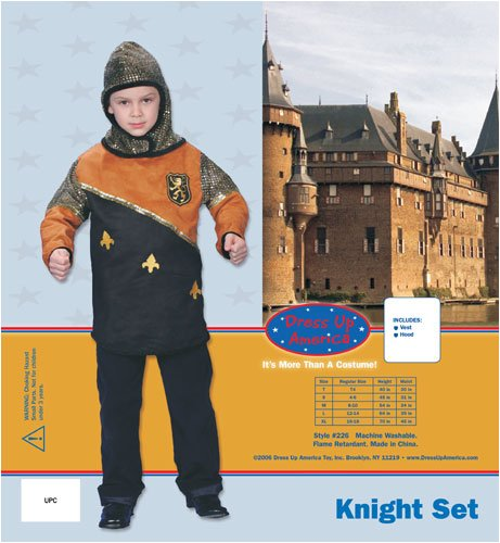 Dress Up America Deluxe Knight Dress Up Children's Costume Set