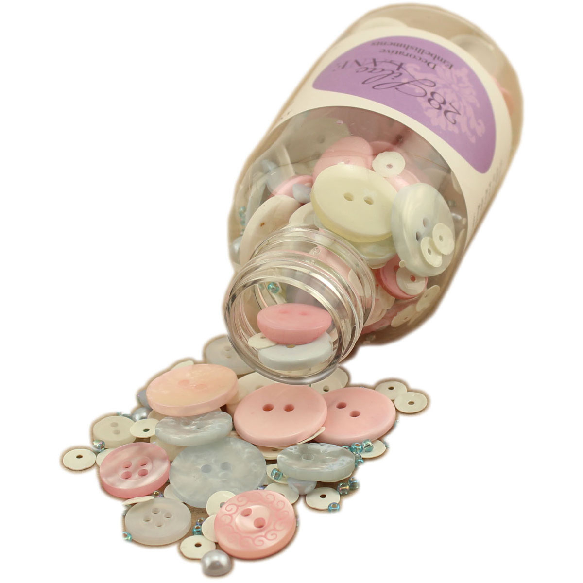28 Lilac Lane Embellishment Bottle Kit-Cotton Candy