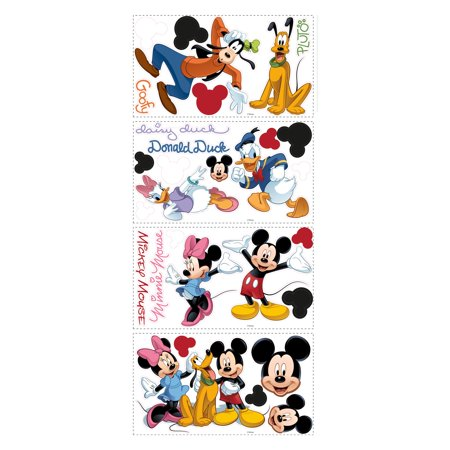 Roommates mickey and friends minnie mouse peel and stick for Autocollant mural walmart