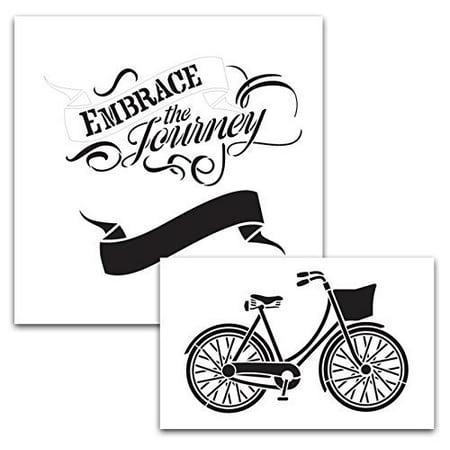 Embrace The Journey Bike and Banner Stencil Set - Banner Stencil