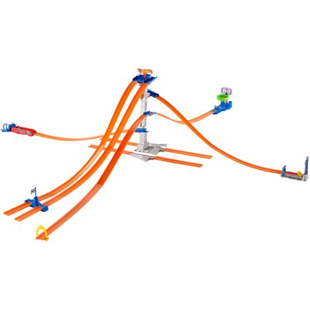 Hot Wheels Track Builder 5 Lane Tower Starter Set Walmart