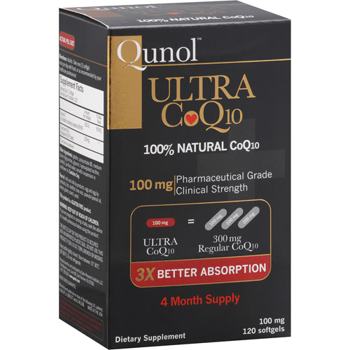 Qunol Ultra 100% Natural COQ10 100mg Softgels, 120ct