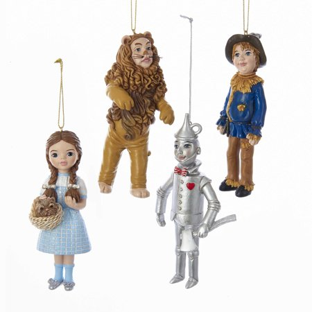 Wizard Of Oz Christmas Ornaments (Wizard of Oz Ornament Set, 4 Pack,)