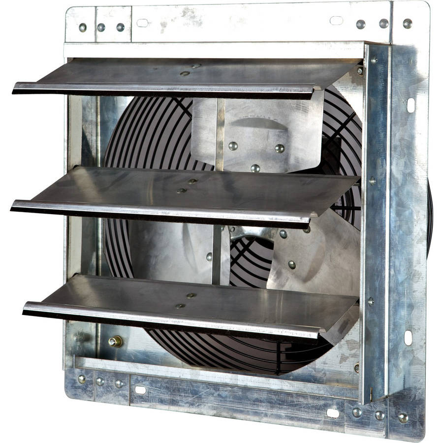 "iLIVING 12"" Variable Speed Shutter Exhaust Fan, Wall-Mounted"