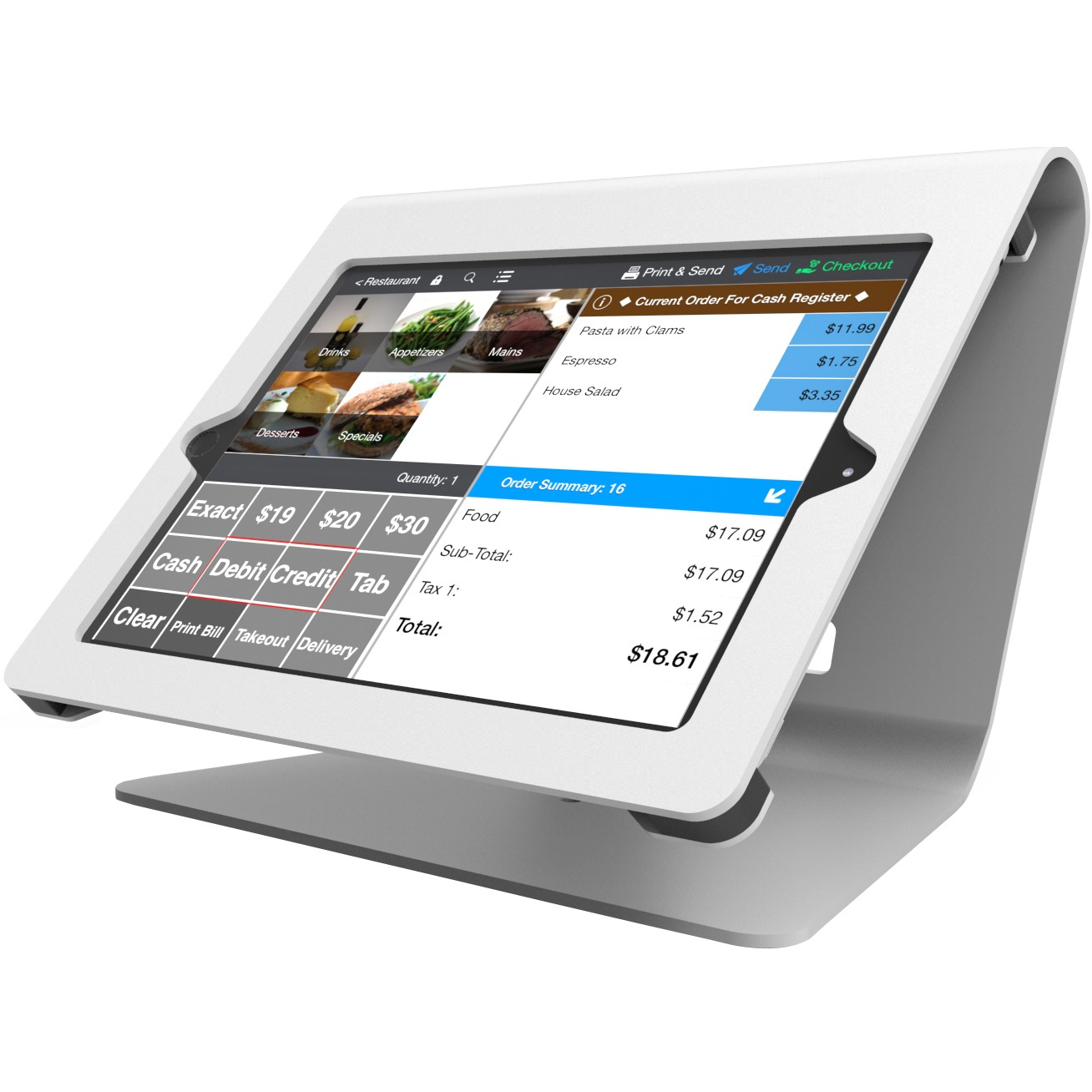 Compulocks Nollie iPad Kiosk - Nollie iPad POS Stand - White