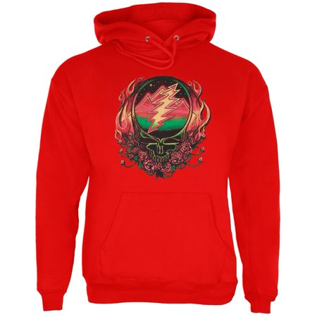 (Grateful Dead - Scarlet SYF Red Adult Pullover Hoodie - Small)