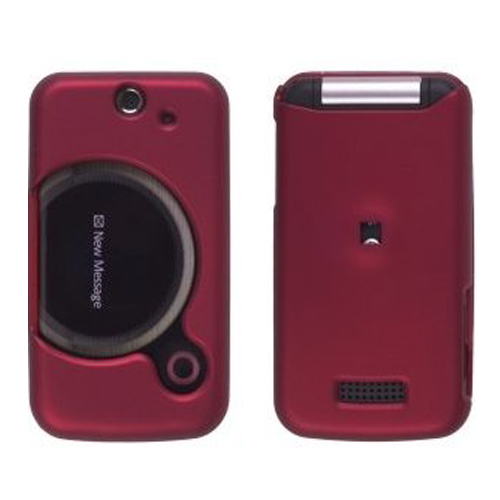 Wireless Solutions Soft Touch Snap-On Case for Sony Ericsson T717 Equinox - Red - image 1 of 1