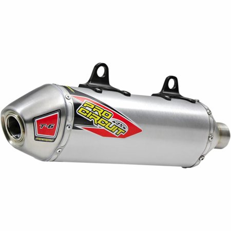 Pro Circuit 0121725A T-6 Slip-On - Aluminum Muffler with Removable Spark